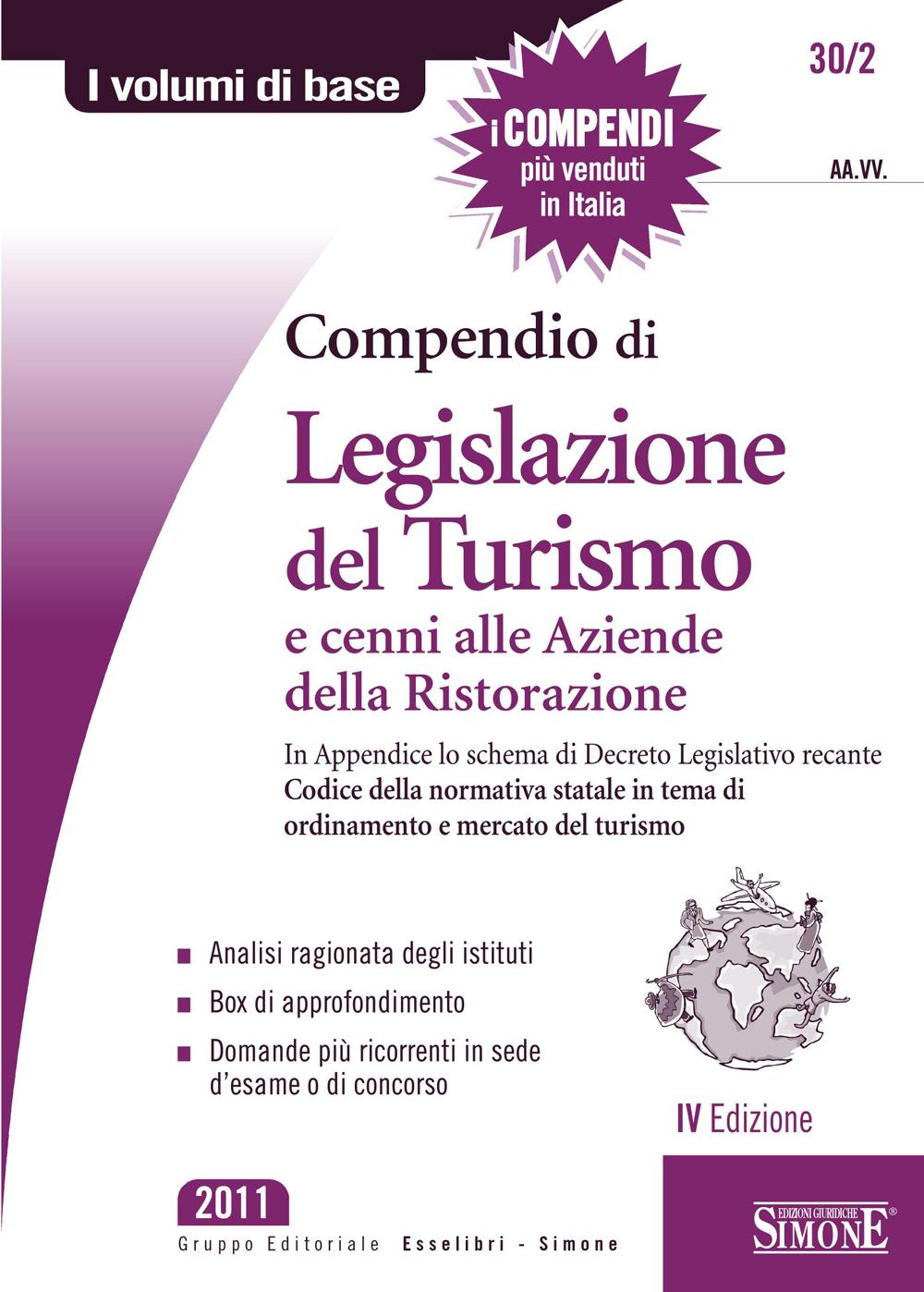 Compendio di Legislazione del Turismo e cenni alle Aziende di Ristorazione